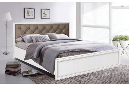 Кровать Олмеко Габриэлла с ортопедическим основанием белый/венге