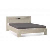 Кровать Олмеко Лучия 33.09-02 с ортопедическим основанием белый/венге